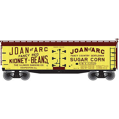Atlas 40' Wood Reefer Joan #12520 -- N Scale Model Train Freight Car -- #50002229