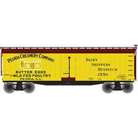 Atlas 40 Wood Reefer Peoria #1550 N Scale Model Train Freight Car #50002233