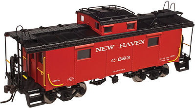 Atlas NE-6 Caboose New Haven #C-707 -- N Scale Model Train Freight Car -- #50002510