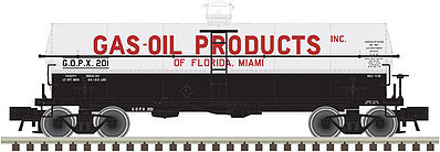 Atlas 11,000-Gallon Tank Car Gas-Oil Products #201 -- N Scale Model Train Freight Car -- #50002634