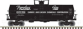 Atlas 11,000-Gallon Tank Car w/Platform Pyrofax Gas #2514 N Scale Model Train Freight Car #50002645