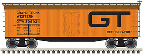Atlas 40 Wood Reefer Grand Trunk Western #206924 N Scale Model Train Freight Car #50002676