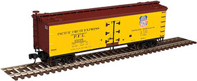 40' Wood Reefer Pacific Fruit Express #34505 N Scale Model Train Freight Car #50002689