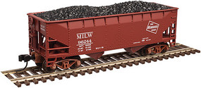 Atlas 2-Bay Offset-Side Hopper w/Load - Ready to Run - Master(R) Milwaukee Road #96004 - N-Scale