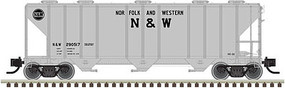 Atlas PS-4000 3-Bay Covered Hopper - Ready to Run Norfolk & Western #290517 - N-Scale