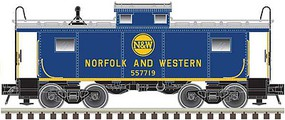Atlas NE-6 Caboose - Ready to Run - Master(R) Norfolk & Western 557713 blue, yellow, silver, Hamburger Logo) - N-Scale