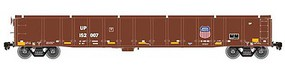 Atlas Thrall 2743 Covered Gondola - Ready to Run - Master(R) Union Pacific 152092 (Boxcar Red, yellow Conspicuity Marks) - N-Scale