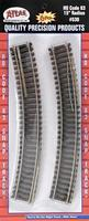 Atlas Code 83 Curved Sections 15'' Radius pkg(6) HO Scale Nickel Silver Model Train Track #530