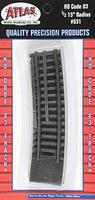 Atlas Code 83 Snap Track - Curved Sections 15 Radius HO Scale Nickel Silver Model Train Track #531
