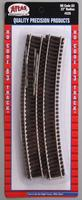 Atlas Code 83 22 Radius (6) HO Scale Nickel Silver Model Train Track #535