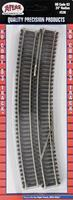 Atlas Code 83 24 Radius (6) HO Scale Nickel Silver Model Train Track #536
