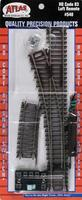 Atlas Code 83 Remote Left-Hand HO Scale Nickel Silver Model Train Track #540