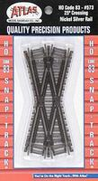 Atlas Code 83 25 Degree Crossing HO Scale Nickel Silver Model Train Track #573