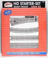 Atlas Code 83 Snap Track Starter HO Scale Nickel Silver Model Train Track #588