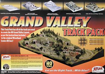 Atlas Code 83 Grand Valley Track Pack HO Scale Nickel Silver Model Train Track #589