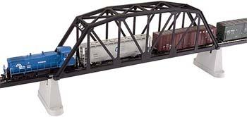 Atlas Code 83 18 Thru Truss Bridge Black HO Scale Model Railroad Bridge #593