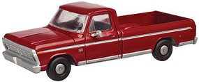 Atlas 1973 Ford F-100 Pickup Truck 2-Pack - Assembled Candy Apple Red - N-Scale