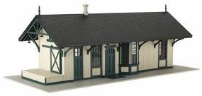Atlas Maywood Train Station Pale Green w/Dark Green Trim HO Scale Model Railroad Building #6203
