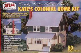 Atlas Kates Colonial Home Kit HO Scale Model Railroad Building #711