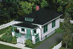Atlas Barb's Bungalow Kit -- HO Scale Model Railroad Building -- #712