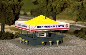 Atlas Refreshment Stand Kit -- HO Scale Model Railroad Building -- #715