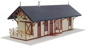 Atlas Maywood Station Kit Tan w/Brown Trim HO Scale Model Railroad Building #720
