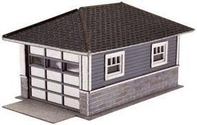 Atlas Barbs Bungalow Garage Wooden Kit (2) HO Scale Model Railroad Building #730
