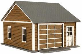 Atlas Kims Classic Garage - Kit (Laser-Cut Wood) - pkg(2) HO Scale Model Railroad Building #735