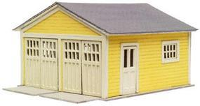 Atlas Garage - Laser-Cut Micro Plywood Kit HO Scale Model Railroad Building #740