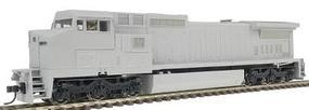 Atlas Series Silver GE Dash 8-40CW Undecorated HO Scale Model Train Diesel Locomotive #7602