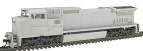 Atlas Series Silver GE Dash 8-40CW Undecorated HO Scale Model Train Diesel Locomotive #7603