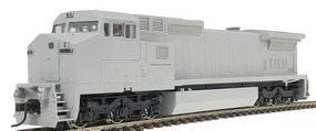 Atlas Series Silver GE Dash 8-40CW Undecorated HO Scale Model Train Diesel Locomotive #7604