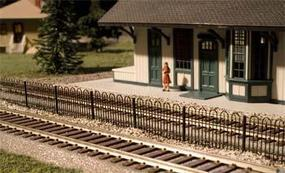 Hairpin Style Fence HO Scale Model Railroad Trackside Accessory #774