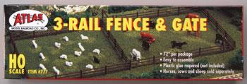 Atlas Rustic Fence & Gate Kit -- HO Scale Model Railroad Trackside Accessory