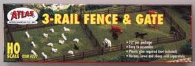 Atlas Rustic Fence & Gate Kit HO Scale Model Railroad Trackside Accessory