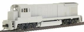 Atlas GE B23-7 Powered - DCC-Ready Undecorated HO Scale Model Train Diesel Locomotive #8001
