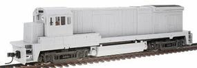 Atlas GE B23-7 Powered, DCC-Ready Undecorated HO Scale Model Train Diesel Locomotive #8005