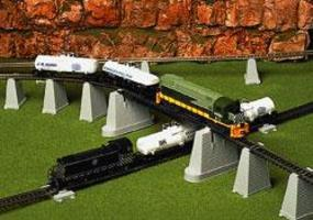 Atlas Pier Set HO Scale Model Railroad Bridge #80