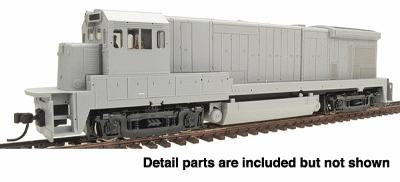 Atlas GE B23-7 - Sound & DCC Equipped - Undecorated -- HO Scale Model Train Diesel Locomotive -- #8105