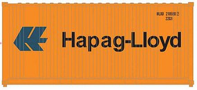 Atlas-O 20 Corrugated Container 2-Pack - Assembled Hapag-Lloyd (orange, blue) - O-Scale