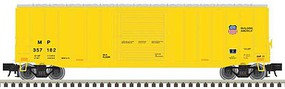 Atlas-O Trainman(R) ACF 506 Boxcar - 2-Rail - Ready to Run Union Pacific (MP Reporting Marks, yellow, Small Building America Logo) - O-Scale