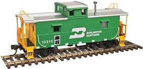 Atlas-O C&O-Style Steel Center-Cupola Caboose - 2-Rail - Ready to Run - Trainman(R) Burlington Northern (Cascade Green, yellow) - O-Scale