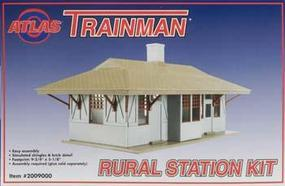 Atlas-O TM Rural Station Kit O Scale Model Railroad Building #2009000