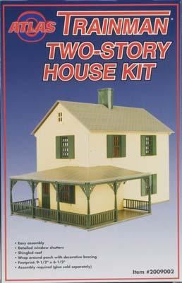 Tm structure kit two story house o scale model railroad for Two story kit homes