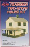 Atlas-O TM Structure Kit Two Story House O Scale Model Railroad Building #2009002
