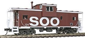Atlas-O Extended-Vision Caboose - 2-Rail Soo Line O Scale Model Train Freight Car #3002257