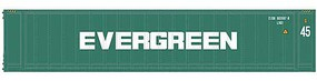 Atlas-O 45 Container - Assembled Evergreen (green, white) - O-Scale