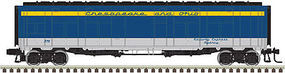 Atlas-O Express Boxcar (Rebuilt Troop Sleeper) - 2-Rail - Ready to Run Chesapeake & Ohio (blue, yellow, gray) - O-Scale