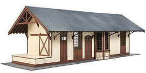 Atlas-O Maywood Station Wooden Laser Kit O Scale Model Railroad Building #4001000
