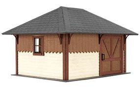 Atlas-O Section House - Kit (Laser-Cut Wood) O Scale Model Railroad Building #4001001